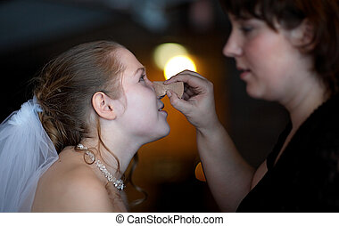 Wedding  makeup - Wedding  make up of bride
