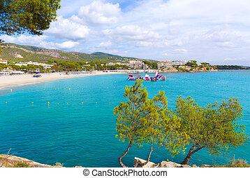 Majorca Platja Palmanova Portonovo beach in Calvia Mallorca...