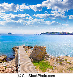 Majorca Platja Palmanova Punta Marroig in Calvia Mallorca at...