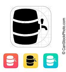 Beer barrel icon. Vector illustration.