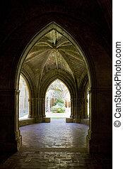 interior of Monastery of Veruela, Zaragoza Province, Aragon,...