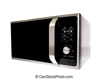 Modern Microwave With Grill Isolated on White Background