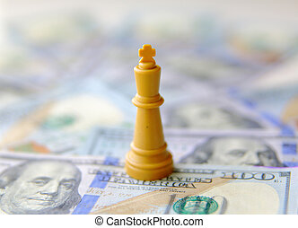 king of business concept. US dollars