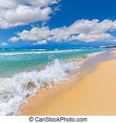 Majorca sArenal arenal beach Platja de Palma in mallorca...