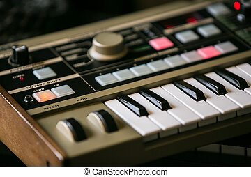 Synthesizer - old vintage no name synthesizer great musical...
