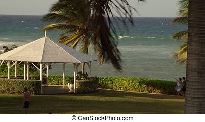Tropical beach resort - Tropical Caribbean beachfront hotel...