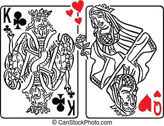Queen Hearts Seduce - Vector illustration of the Queen of...