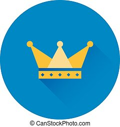 Vector crown icon. Symbol of power and success. Trendy flat...