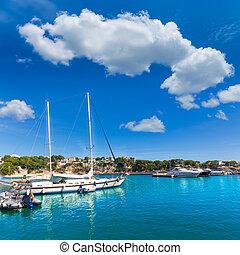 Majorca Porto Cristo marina port Manacor Mallorca - Majorca...