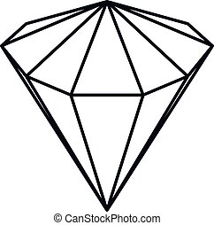 diamond - vector art illustration