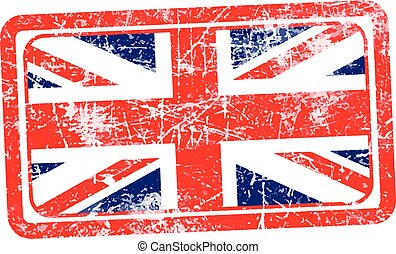 england flag red grunge rubber stamp vector illustration