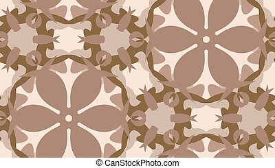 Seamless Brown Floral Shapes