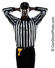 american football referee gestures silhouette - american...