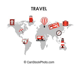 travel concept design, vector illustration eps10 graphic