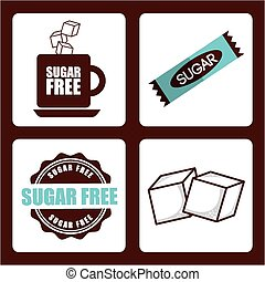 sugar product design, vector illustration eps10 graphic