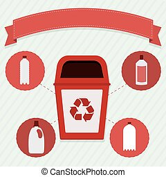 Plastic selective collection - Red trash for the selective...