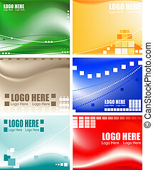 business cards - collection of blank business cards