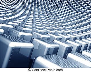 Abstract cube waving background - Abstract shiny cube waving...