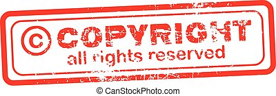 Copyright red stamp - Copyright all rights reserved red...