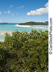 Whitehaven Beach Bay, Queensland, Australia, August 2009 - A...
