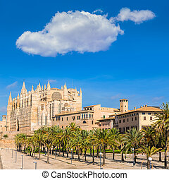 Majorca Palma Cathedral Seu Seo of Mallorca at Balearic...