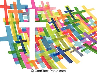 Christianity religion cross concept abstract background