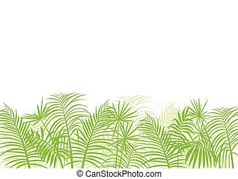 Palm tree leaf vector background ecology landscape