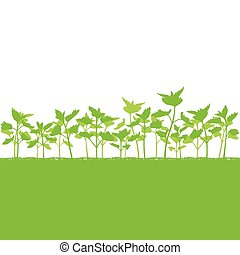 Nettle field vector background ecology green concept