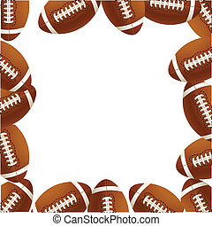 Footballs,  rugby, balles, vecteur,  Illustration