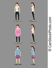 Casual Clothing for Women - Vector illustration of...