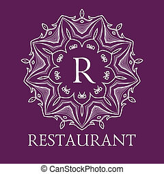 Simple and elegant monogram design template with letters...