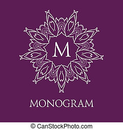 Simple and elegant monogram design template with letters....
