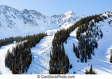Loveland pass - Typical weekend at Loveland pass on late...