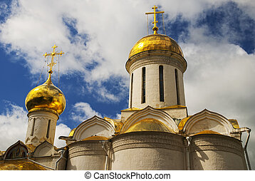 Trinity cathedral in the Trinity Lavra of St Sergius,...