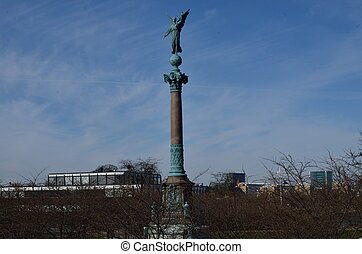 Statue of Liberty in Denmark - Statue of Liberty next to the...