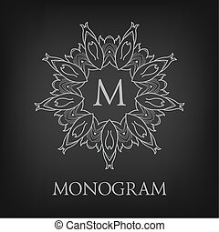 Luxury,simple and elegant monochrome monogram design...