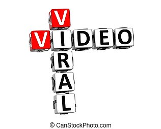 3D Crossword Viral Video on white background