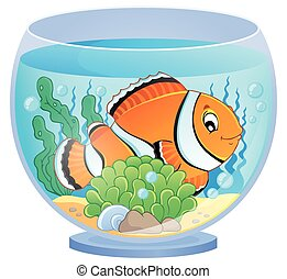 Aquarium theme image 1 - eps10 vector illustration