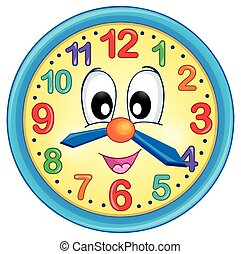 Clock theme image 5 - eps10 vector illustration