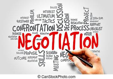 negociación,