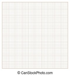 Vector square engineering graph paper with 10 metric...