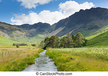 Haystacks mountain from Buttermere UK Cumbrian Lake District...