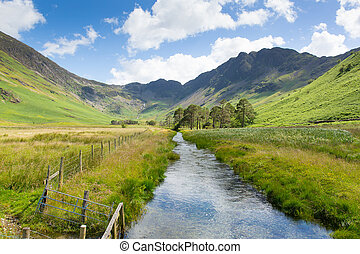 Haystacks mountain Buttermere Lake - Haystacks mountain from...