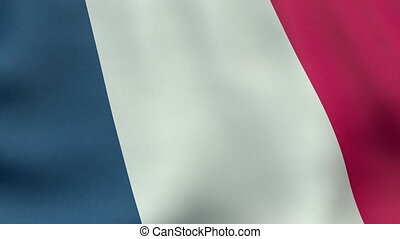 Loopable waving French flag animation - Seamlessly loopable...