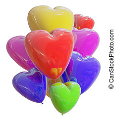 balloons COLOR heart