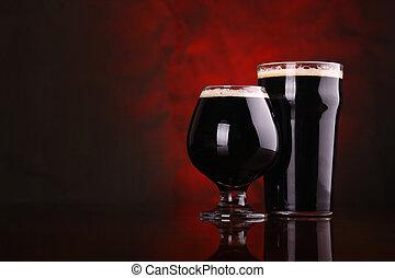 Oscuridad, Cerveza negra, cerveza,