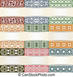 Set of vintage background