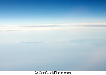 Sky Blue - Soft, smooth stratosphere background, white to...