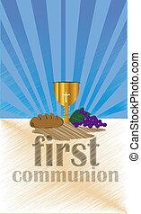 primeiro, santissimo, comunhão,