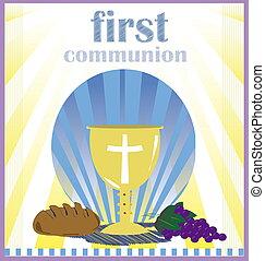 kommunion, heilig, zuerst